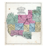 1872, Jersey County Map, Illinois, United States Giclee Print