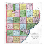 1871, Fulton County Map, Illinois, United States Giclee Print