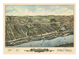 1877, Windsor Locks Bird's Eye View, Connecticut, United States Giclee Print