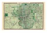 1876, Indianapolis, Indiana, United States Giclee Print