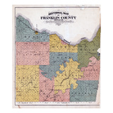 1878, Franklin County Sectional Map, Missouri, United States Giclee Print