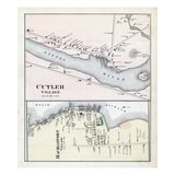 1881, Cutler Village, Machiasport Village, Maine, United States Giclee Print