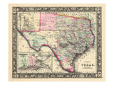 1864, Texas Mitchell Plate, Texas, United States Reproduction procédé giclée