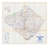 1958, Berks County Map, Pennsylvania, United States Giclee Print