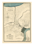 1875, New Orleans 1798 Drawn in 1875, Louisiana, United States Giclee Print