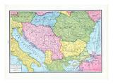 1925, Bosnia & Herzegovina, Bulgaria, Hungary, Romania, Europe, Jugo-Slavia and the Balkan - States Giclee Print