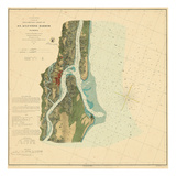 1862, St. Augustine Harbor Chart 1862, Florida, United States Giclee Print