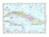 1913, Cuba, Dominican Republic, Jamaica, Puerto Rico, Central America Giclee Print