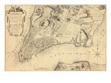 1776, New York City From 1767 Survey, New York, United States Giclee Print
