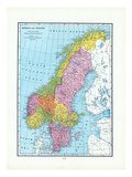 1925, Norway, Sweden, Europe Giclee Print