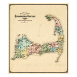 1880, Barnstable County and Cape Cod, Massachusetts, United States Giclee Print