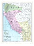 1913, Bolivia, Brazil, Ecuador, Peru, South America, Ecuador, Peru and Bolivia Giclée-Druck