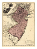 1777, New Jersey, The Jerseys Divided into East and West, New Jersey, United States Giclee Print