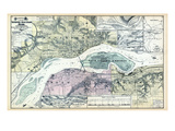 1894, Davenport 2, Rock Island and Moline - Topographical Map, Iowa, United States Giclee Print