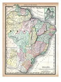 1890, Brazil, Guyana, Paraguay, South America, Brazil, Paraguay and Guayana Giclee Print