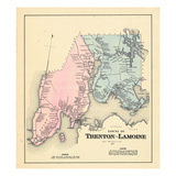 1881, Trenton and Lamoine Towns, Lamoine and Trenton Towns, Maine, United States Giclee Print