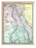 1890, Egypt, Ethiopia, Sudan, Africa, Egypt, Arabia Petaea and Lower Nubia Giclee Print