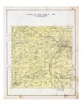 1903, Township 20 North, Range 33 West, Clementine P.O., Gravette, Nebo, Pactolus P.O, Arkansas, Un Giclee Print