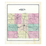 1876, County Outline, Missouri, United States Giclee Print