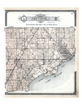 1916, Chesterfield Township, New Baltimore, Lake St. Clair, Anchor Bay, Michigan, United States Giclee Print