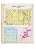 1903, Township 21 North, Range 33 West, Sulphur Springs, Miller's Springs, Beaty, Darby Place, Bloo Giclee Print