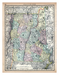 1890, United States, New Hampshire, Vermont, North America, New Hampshire, Vermont Giclee Print