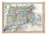 1890, United States, Connecticut, Massachusetts, Rhode Island, North America, New England Giclee Print