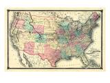1876, United States Railroad, Missouri, United States Giclee Print