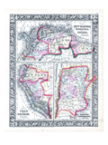 1864, Argentina, Bolivia, Brazil, Ecuador, Guyana, Peru, Venezuela, South America, New Granada Giclee Print