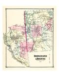 1874, Bridgewater and Roxbury, Roxbury and Bridgewater, Connecticut, United States Giclee Print