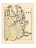1881, Lubec Lot Plan, Maine, United States Giclee Print