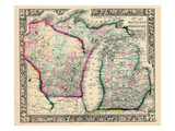 1864, Michigan and Wisconsin, United States Giclee Print