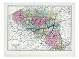 1873, Belgium, Duchy of Luxemburg Giclee Print