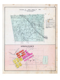 1903, Township 21 North, Range 34 West, Springtown, Miller's Springs, Arkansas, United States Giclee Print