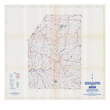 1958, Butler County Map, Pennsylvania, United States Giclee Print
