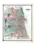 1876, Chicago City, Illinois, United States Giclee Print