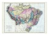 1873, Brazil, Bolivia, Peru, Ecuador Giclee Print