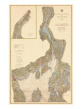 1882, Penobscot River, Belfast Bay Chart 1882, Maine, United States Giclee Print