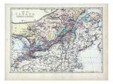 1873, Canada, Ontario, Quebec Giclee Print