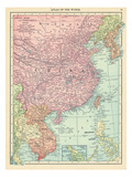 1913, Cambodia, China, Laos, Mongolia, North Korea, Philippines, South Korea, Taiwan, Vietnam, Asia Giclee Print