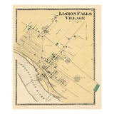 1873, Lisbon Falls Village, Maine, United States Giclee Print