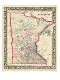 1864, United States, Minnesota, North America, Minnesota Giclee Print