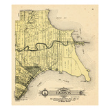 1916, Harrison Township, Lake St. Clair, Clinton River, Belvidere Bay, Tucker's Bay, Anchor Bay, Po Giclee Print
