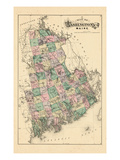 1881, Washington County Map, Maine, United States Giclee Print
