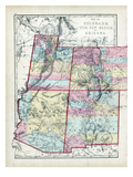 1873, Colorado, Utah, New Mexico, Arizona, USA Giclee Print
