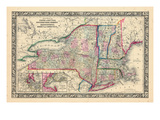 1864, United States, Connecticut, Maine, Massachusetts, New Hampshire, New Jersey, New York, Penn Giclee Print