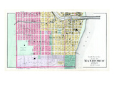 1893, Manitowoc City - South, Wisconsin, United States Giclee Print