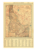 1917, Idaho State Map 1917, Idaho, United States Giclee Print