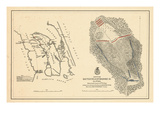 1862, Roanoke Island, Battlefield Map, North Carolina, United States Giclee Print