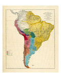1861, South America Lámina giclée
